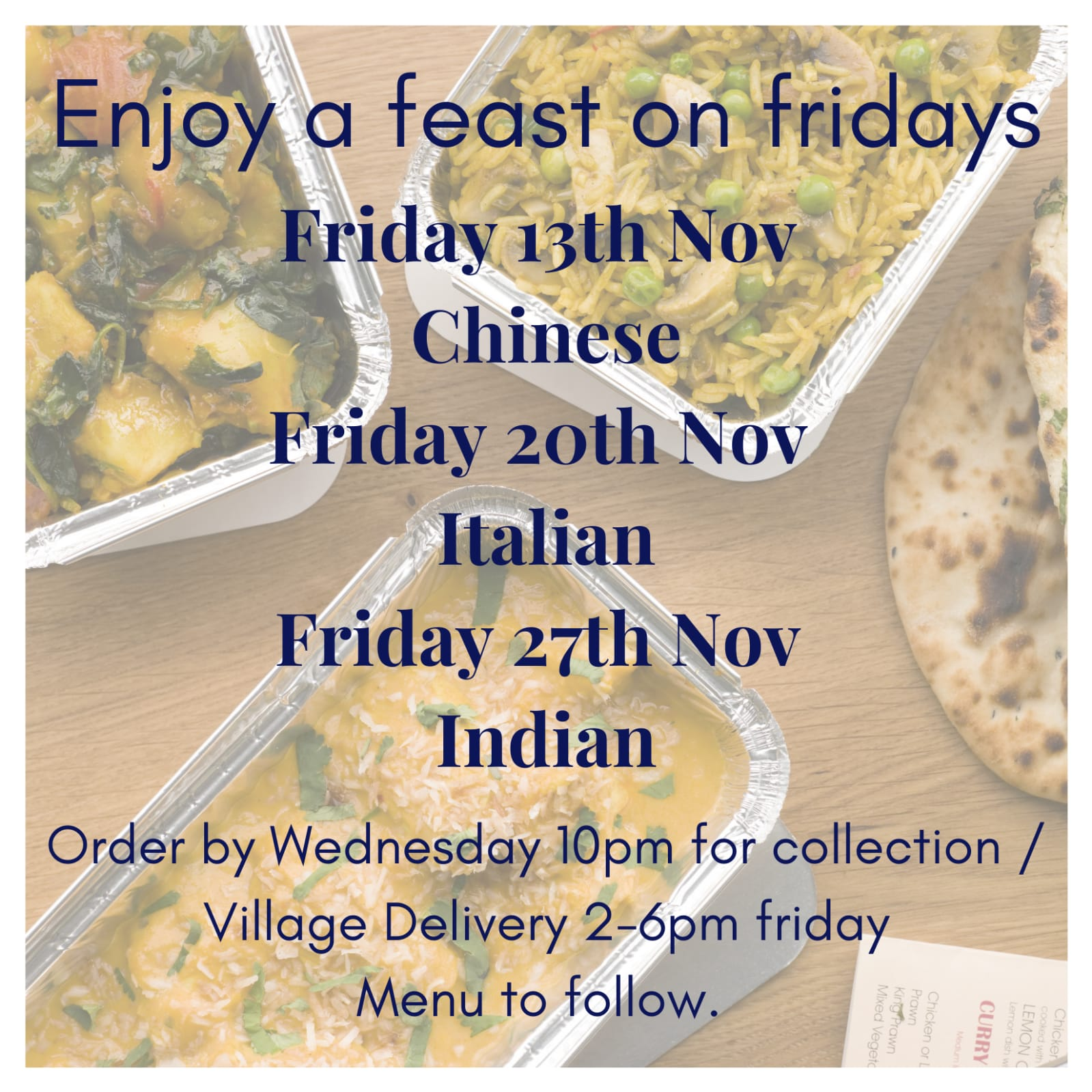 Friday Feasts!
