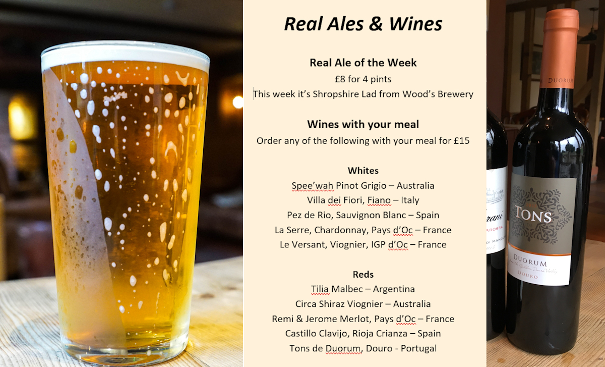Real Ales and Wines